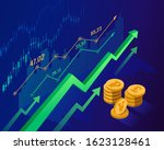 stock market and economics... | Shutterstock .eps vector #1623128461