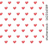 seamless  pattern with hearts.... | Shutterstock .eps vector #162316589