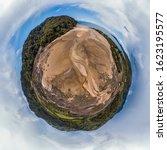 Sandy Beach Aerial Tiny Planet...