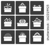 gift box icons  holiday... | Shutterstock .eps vector #162319925