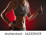 body of slim female in... | Shutterstock . vector #162320429