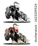 cartoon semi truck isolated on...   Shutterstock .eps vector #1623209524