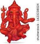 red ganesha hindu god of... | Shutterstock .eps vector #1623238024