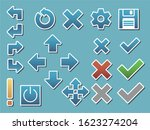 set of minimalistic buttons for ... | Shutterstock .eps vector #1623274204