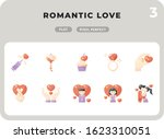 romantic love glyph icons pack...