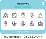 wedding outline icons pack for...