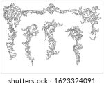 ornament elements in rococo and ... | Shutterstock .eps vector #1623324091