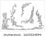 ornament elements in rococo and ... | Shutterstock .eps vector #1623324094