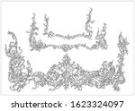 ornament elements in rococo and ... | Shutterstock .eps vector #1623324097