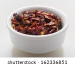 dry chilly on white background  | Shutterstock . vector #162336851