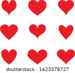 red heart icon vector. flat... | Shutterstock .eps vector #1623378727