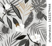 leaves  twigs and flowers... | Shutterstock .eps vector #1623379444