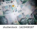 one hundred polish zloty... | Shutterstock . vector #1623408187