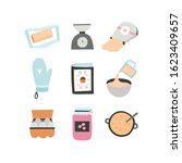 kitchenware and ingredients for ...   Shutterstock .eps vector #1623409657