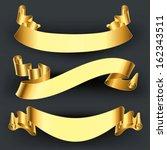 set of gold ribbons | Shutterstock .eps vector #162343511