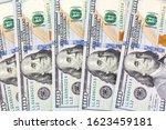 background of 100 dollar bills. ... | Shutterstock . vector #1623459181
