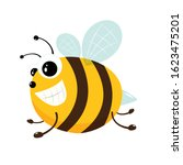 cute little bee isolated on...   Shutterstock . vector #1623475201