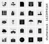 25 universal icons vector... | Shutterstock .eps vector #1623494164
