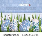 stylish easter background with... | Shutterstock .eps vector #1623513841