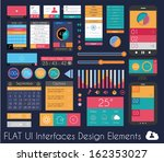 ui flat design elements for web ... | Shutterstock . vector #162353027