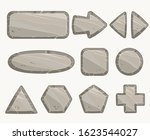 rock circle button  stone... | Shutterstock .eps vector #1623544027