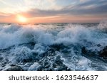 Ocean Wave Sunset Is A A Wave...