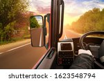 Truck Dashboard With Driver\'s...