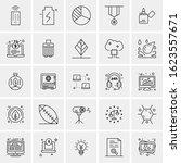 25 universal icons vector... | Shutterstock .eps vector #1623557671