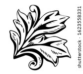 hand drawn black and white... | Shutterstock .eps vector #1623558331