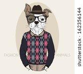 hand drawn fashion illustration ... | Shutterstock .eps vector #162356144