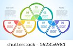 abstract numbered banners.... | Shutterstock .eps vector #162356981