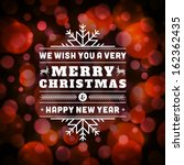 merry christmas message and... | Shutterstock .eps vector #162362435