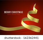 christmas tree gold from ribbon ... | Shutterstock .eps vector #162362441