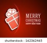 Christmas Card And Gift Box...