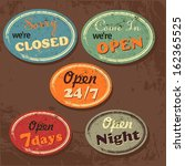 set of retro vintage signs with ... | Shutterstock .eps vector #162365525
