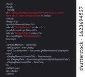 java script code text. computer ...