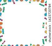 seamless. frame doodle. vector... | Shutterstock .eps vector #1623720784