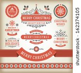 christmas decoration vector... | Shutterstock .eps vector #162374105