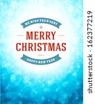 christmas snowflakes light... | Shutterstock .eps vector #162377219