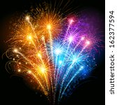 colorful fireworks | Shutterstock .eps vector #162377594