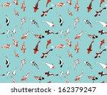koi fish seamless pattern | Shutterstock .eps vector #162379247