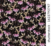 seamless floral pattern with... | Shutterstock . vector #1623793747