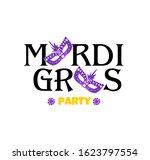 mardi gras carnival. greeting... | Shutterstock .eps vector #1623797554