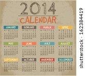 2014 Calendar Paper Design....
