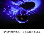 glowing disco ball reflection... | Shutterstock . vector #1623845161