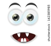 cartoon face  | Shutterstock .eps vector #162385985