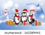 vector illustration of penguin... | Shutterstock .eps vector #162389441
