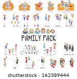 vector illustration of family... | Shutterstock .eps vector #162389444