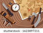 planning expedition to discover ... | Shutterstock .eps vector #1623897211
