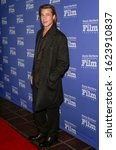Small photo of Santa Barbara, CA - Jan 22, 2020: Brad Pitt attends the 35th Annual Santa Barbara International Film Festival, Maltin Modern Master Award at Arlington Theatre